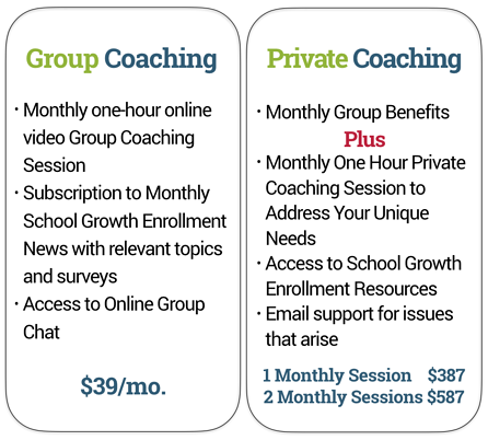 Enrollment Coaching Options