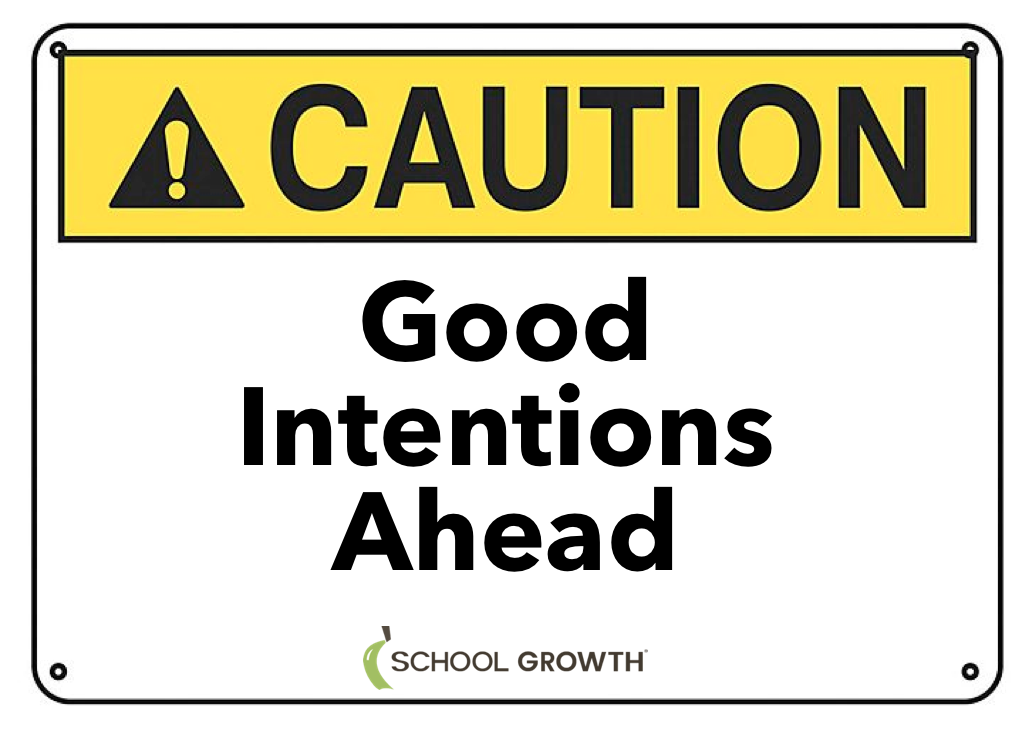 SG Good Intentions Ahead Sign